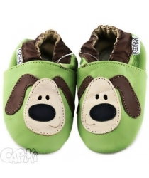 Capačky barefoot Capiki Psík zelený 7cdfefd5c0